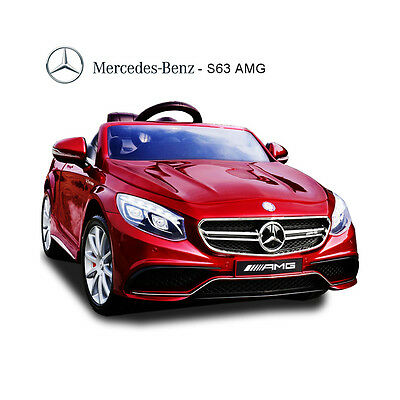 Licensed Mercedes S63 AMG Coupe 12v Kids Ride On Childrens Toy Car Remote Red