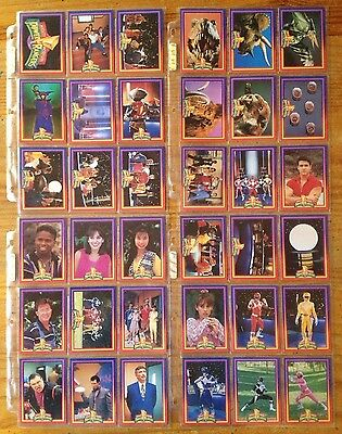 Mighty Morphin Power Rangers 72 Trading Cards Series 1 COMPLETE Set Near Mint