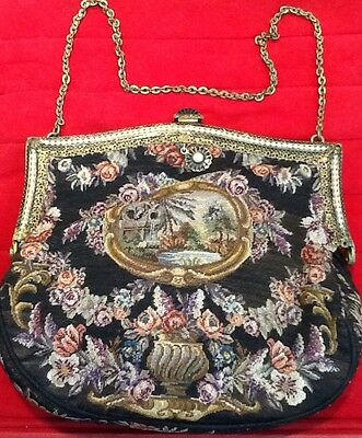 Purse France 1900 Fine Petit Point