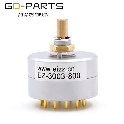 1PC EIZZ 3 Way 3 Position Rotary Switch Selector Aluminum Shield 12 Copper Pins