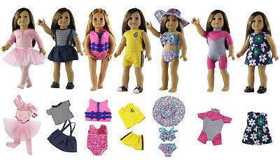 """7 Set Doll Clothes for 18"""" inch American Girl Doll Handmade Casual Wear Outfit"""