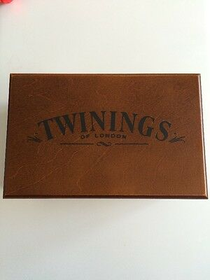 Twinings Of London 2 Compartment wooden Wood Tea Box / storage