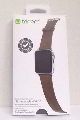 Trident - Leather Watch Strap for Apple Watch 38mm - Brown