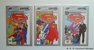 DC silver Edition Man Of Steel 4-6 by DC comics GC & CHECKED
