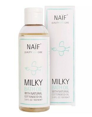 Naif Milky Bath Oil Baby With Natural Cottonseed Oil 100ml - Only £9.99!