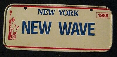 "New York New Wave Mini License Plate 4.75"" X 2.0"" 1989"