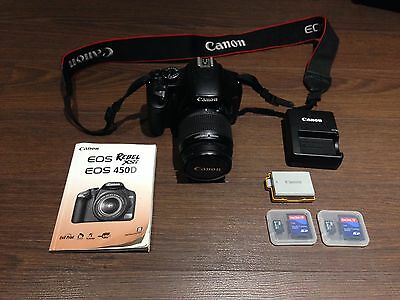 Canon Rebel XSi Camera with 18-55 mm IS EF-S Lens