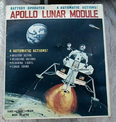 SPACE ROCKET APOLLO LUNAR MODULE L M Japan Boxed Battery Vintage 1960's DSK 7025