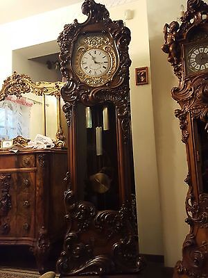 Clock Baroque Style  Hand - Carved Grandfather Clock  # 6
