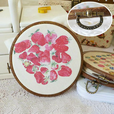 Wooden  Round Frame Cross Stitch Hoop Embroidery Ring  Two Layer Tool Machine