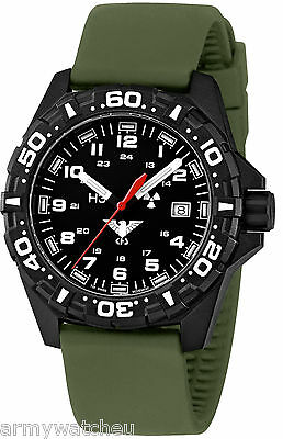 KHS Watch Reaper H3 military wristwatch green silicone strap Swiss Movement