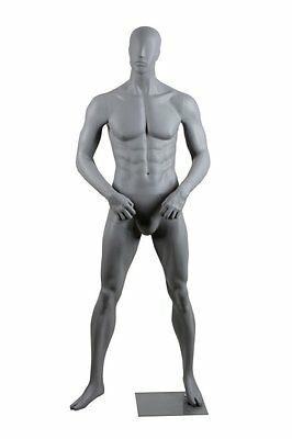 Abstract Male Mannequin, Matte Grey, angel Style, Made of Fiberglass (lee1)