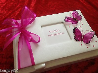 Personalised Birthday Guest Book 18th 21st 30th 40th 50th 60th 70th 80th Boxed