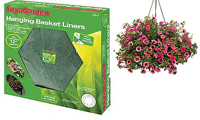 Hanging Basket Liners -  Pick Size & Quantity   Liners green
