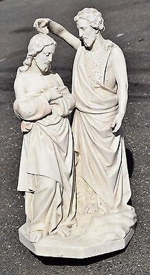 + Plaster Statue of The Baptism of Jesus + chalice co. + (CU519)