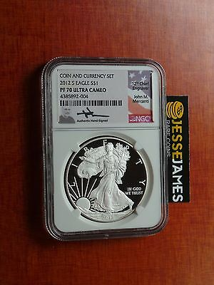 2012 S Proof Silver Eagle Ngc Pf70 Ultra Cameo Mercanti From Coin & Currency Set