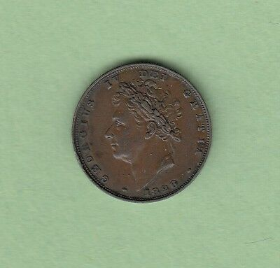 1826 Great Britain Farting Copper Coin - George IV - VF