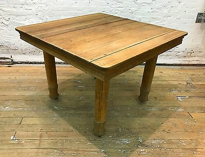 Antique Solid Oak Dinning Table, Square, Four Legs