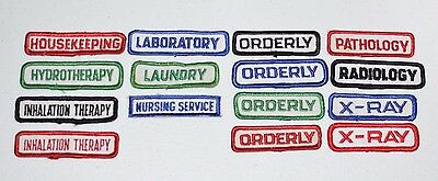 Embroidered Vintage Job Position Occupation Patch Sew-on for Work Shirt Uniform