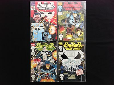 PUNISHER WAR ZONE Lot of 4 Marvel Comic Books - #1 2 6 12!