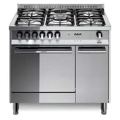 Kitchen GAS-90x60 stainless polished class A oven GAS -5 fires-compartment rip