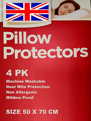 4 Quality Pillow Protector cover ,Dust Mite Proof, Anti Allergy