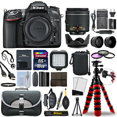 Nikon D7100 Digital SLR Camera with 18-55mm Lens + 16GB Mega Accessory Bundle