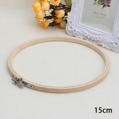 Bamboo Hoop Ring Embroidery Frame Cross Stitch Accessory Round Needlecraft Hand