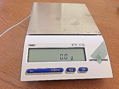 Mettler Toledo PB8001 Scale Balance Maximum Capacity 8100g Readability 0.1g