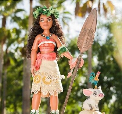 """DISNEY STORE MOANA LIMITED EDITION DOLL 16"""" NUMBERED 1700/6500! Mint Box!"""
