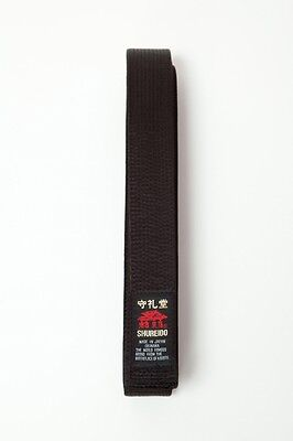 Shureido Black Belt 4.5cm Cotton or Satin - Karate Japanese