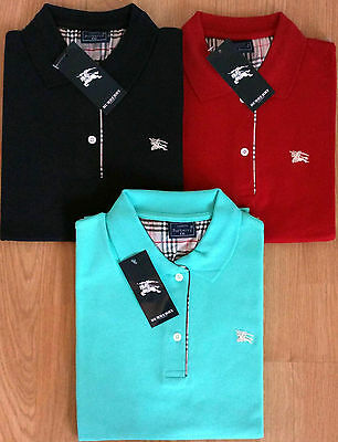 Burberry Womens Polo Shirts Slim Modern Fit Soft Cotton AUTHENTIC UK STOCK