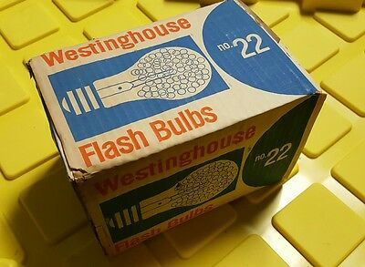 VTG Westinghouse 6-Pack Set Photoflash Flash Bulb No. 22 Rare Made In USA