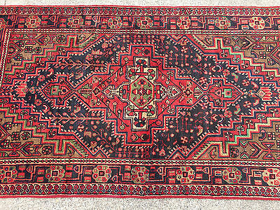 5x8 HAND KNOTTED WOVEN PERSIAN RUG HERIZ IRAN WOOL 5 x 8 blue antique rugs 4 7 6