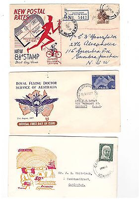 Australia 1949/61 Group of  FDCs   ( 5 Covers )