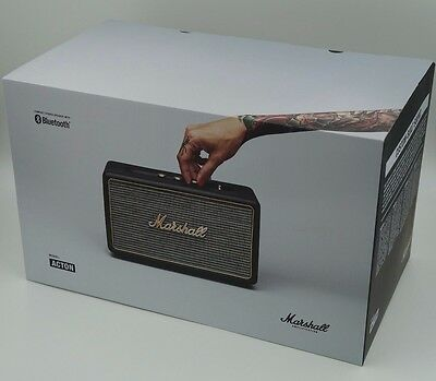 Marshall Acton Bluetooth AUX Speaker, Compact Stereo Black BRAND NEW