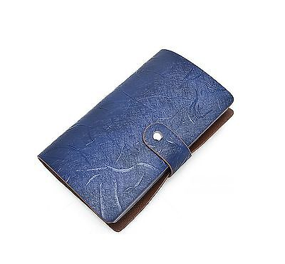 96 Card Slots RFID Blocking Credit Card Holder Leather Multi Business Card Ca...