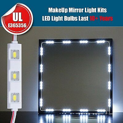 5ft 30LED white Dressing Mirror Lighted Cosmetic Makeup Vanitylight+remote+power