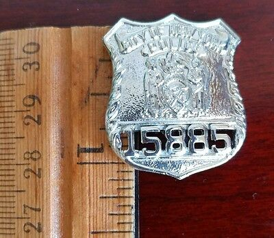 NYPD, City of New York Police, mini badge pin, Obsolete, Vintage
