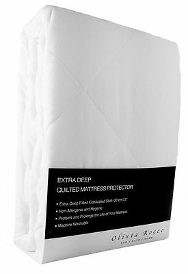 Luxury Quilted Extra Deep Mattress Protector, Hotel Quality Mattress