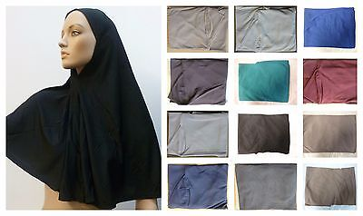 Muslim Ladies Women Islamic Hijab Scarf One Piece Many Color Stretcable Material