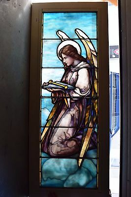 "+ 100 Year Old ""Angel"" Stained Glass Window by Lamb Studios + Tiffany style (#2)"