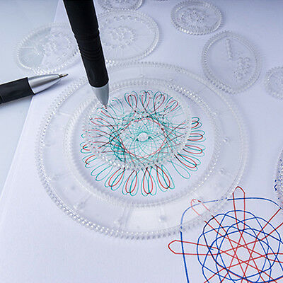 Kids Deluxe Spirograph Design Set Draw Spiral Designs Interlocking Toys Children