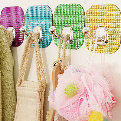 Crystal Magic Stickers Seamless Strong sticky Hook Adhesive Hook Coat Hooks