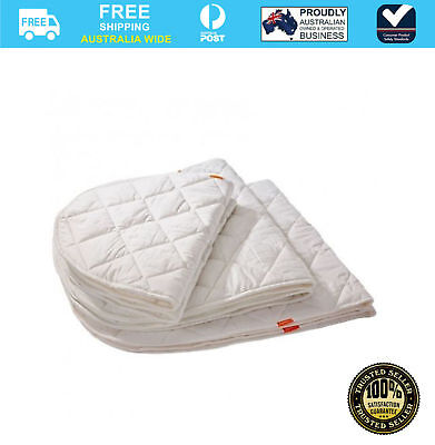 Leander Baby Cot Quilted Water Absorbent Machine Washable Mattress Protector x1