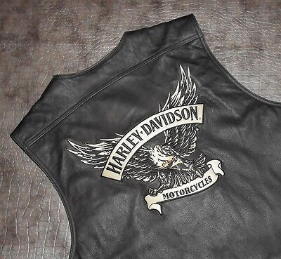 Men's Harley-Davidson Distressed Leather Vest (97075-09VM) size 3XL