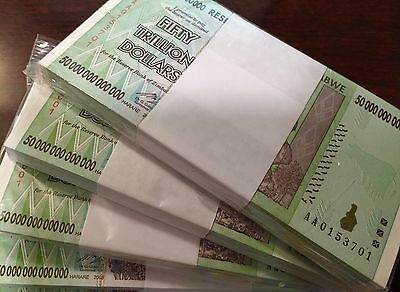 Zimbabwe Zim 50 Trillion Dollars P90 Banknote Full Bundle Pick 90 Uncirculated