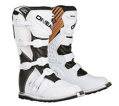 Oneal Rider Boot Black/white Adult Sz 10 Motocross Boot Brand New !!