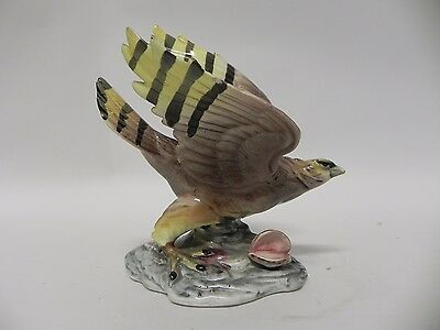 VINTAGE PORCELAIN HAWK FIGURINE Statue JAPAN Hand Painted