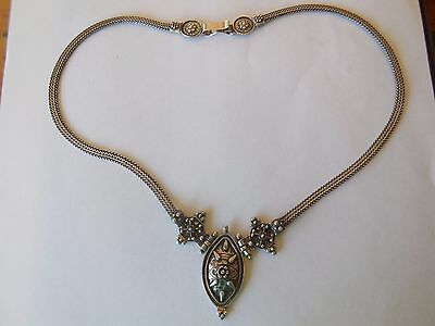 Unique eye catching Sterling Silver necklace, stamped, 46cm and 26.43 grams